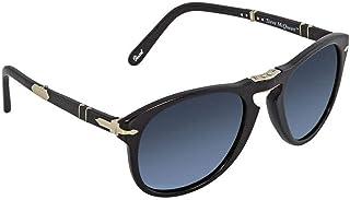 09e989fd89 Persol Mens Sunglasses Black Blue Acetate - Polarized - 54mm