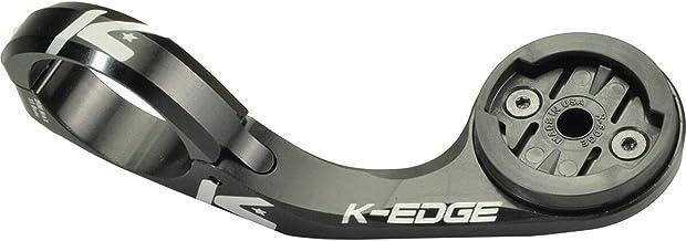 K-EDGE Garmin Max montage, 31,8 mm, Anodize reserveonderdelen, volwassenen, uniseks, zwart (zwart), eenheidsmaat