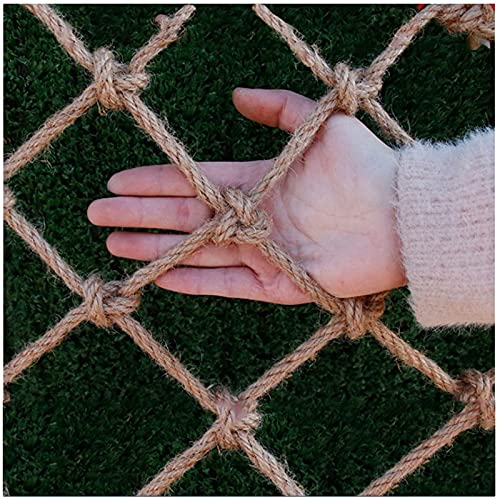Kids Protective Safety Protection Hemp Rope Net Outdoor Child Protection Climbing Anti-fall Decoration Net Child Protection Net Railing Safety Net,10mm/10cm,Various Sizes(Size:3 * 3M(10 * 10FT))