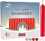 BRUBAKER 20 Paquete de Cera para Velas de Árbol - Velas de Navidad Velas Piramidales Velas de Árbol de Navidad - Rojo