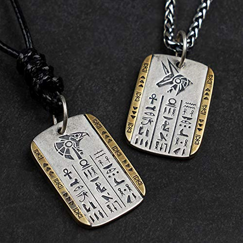 Collier pendentif tête de faucon oeil dhorus garde du pharao
