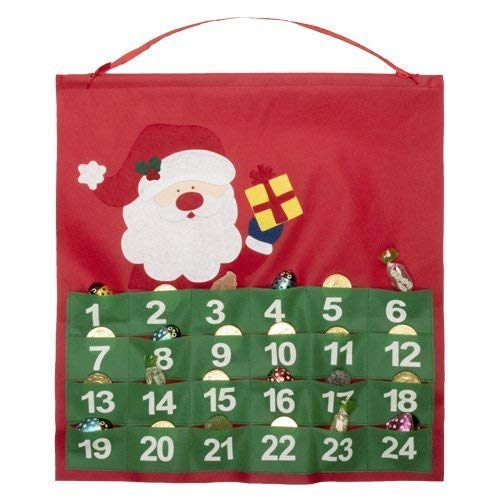 Barato y Simpático Calendario de Adviento de Dell en Tnt con Bolsillos y Santa Navidad