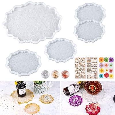 Coaster Molds for Epoxy Resin - CASTATEO Glossy...