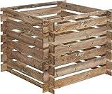 Cerland Composteur en Bois MEZZITO – Traité Autoclave Classe 3-100 × 100 × H72 cm