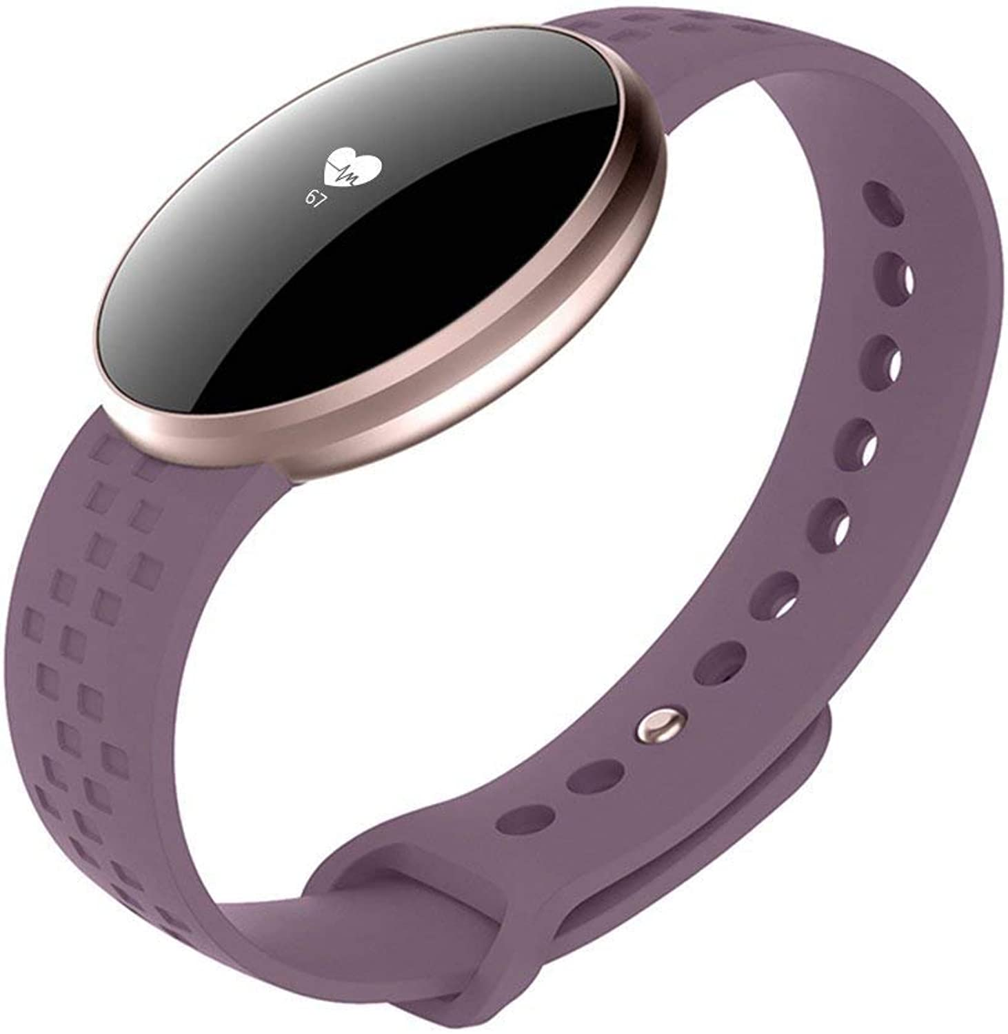 XHZNDZ Women's Smart Watch for iPhone Android Phone with Fitness Sleep Monitoring Waterproof Remote Camera GPS Auto Wake Screen (color   Purple)