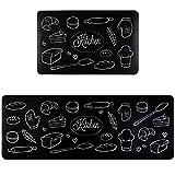 Cekene Anti Fatigue Kitchen Mat Set of 2 Memory Foam Thick Cushioned Rugs for Kitchen Non-Slip...