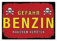 ドイツの危険ガソリンWW2 メタルポスター壁画ショップ看板ショップ看板表示板金属板ブリキ看板情報防水装飾レストラン日本食料品店カフェ旅行用品誕生日新年クリスマスパーティーギフト