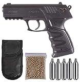 Tiendas LGP - Gamo - Pack Pistola Gamo P-27 Dual - Arma de Aire comprimido, Potencia de 3,5 Julios, 4,5 mm, Velocidad de Salida 131 m/s. + 5 Bombonas CO2 + Funda Portabombonas + 500 BBS