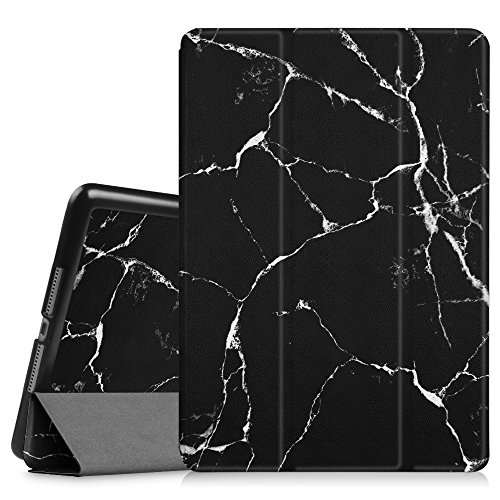 Fintie Case for iPad Air 2 9.7' - [SlimShell] Ultra Lightweight Stand Smart Protective Cover with Auto Sleep/Wake Feature for iPad Air 2, Marble Black