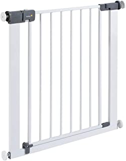 Safety 1st Quick Close ST Treppenschutzgitter extra sicheres Metall-Türschutzgitter zum Klemmen, ohne Bohren, 73 - 80 cm, bis 136 cm verlängerbar (ab ca. 6 - 24 Monate), weiß