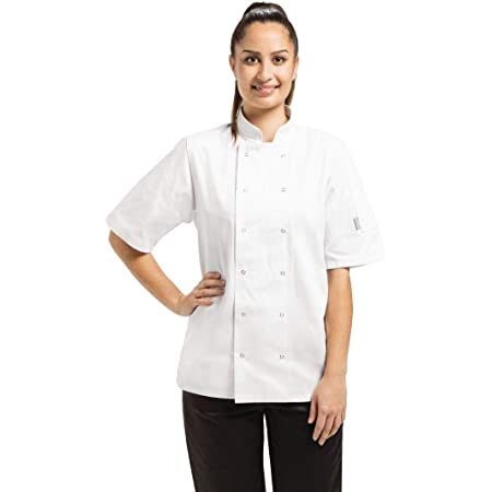 Whites Chefs Apparel A211-S Vegas Chef Jacket, Short Sleeve, White
