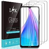 L K 3-Unidades Protector de Pantalla para Xiaomi Redmi Note 8T, Cristal Vidrio Templado [Dureza 9H] [Funda Compatible] [Anti-Arañazos] [Sin Burbujas] [Sin Bordes Levantados] [Instalación Fácil]
