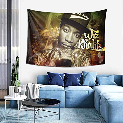 HUSHIQUD Wiz Khalifa Home Fashion Wall Mounted Tapestry Decoration Bedroom Living Room 60 X 40 Inch