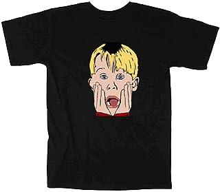 BLACKホームアローンフェイスTシャツ