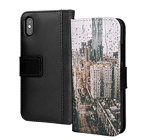 New York Misty Rain - Custodia a portafoglio in pelle PU per Samsung Galaxy S6 Edge