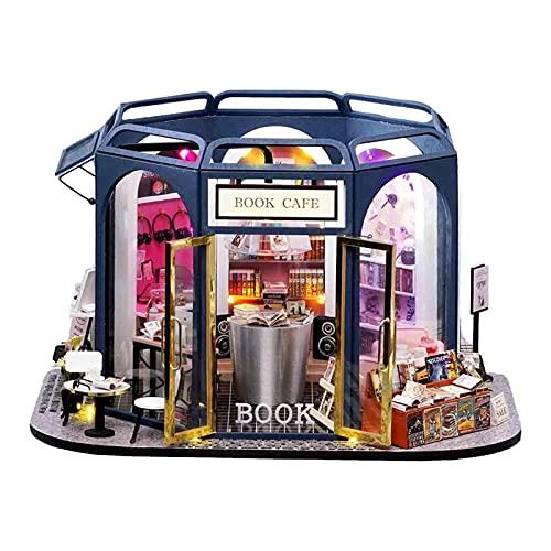 Nrkin Casa delle bambole fai da te in miniatura con luce, per San Valentino, festa dei bambini, Natale, matrimonio, compleanno