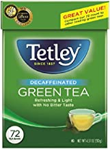 Tetley Green Tea, Decaffeinated, 72 Tea Bags (Pack of 6)