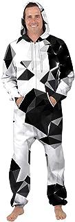 Leezeshaw Unisex 3D Printed Long Sleeve Hooded Onesie Jumpsuit All in One Piece Pyjamas Nightwear Costumes
