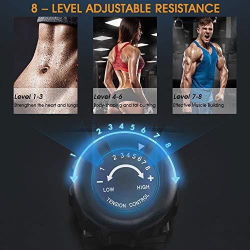 Merax magnetisches Rudergerät mit 8 einstellbaren Stufen, LCD-Monitor, 150 kg Maximalgewicht, Cardio-Fitnessgerät für den Heimgebrauch, faltbar - 4