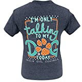 Girlie Girl Originals My Dog Today Heather Navy Short Sleeve T-Shirt (Small)