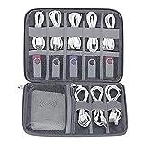 BZM-ZM 透明ホーム収納バッグ BUBMトラベルデジタルストレージバッグケーブルオーガナイザーケーブル充電器イヤホンUSBディスク用バッグケース、アップルウォッチスポーツバンドOragnizer (Color : D style S Dark grey)
