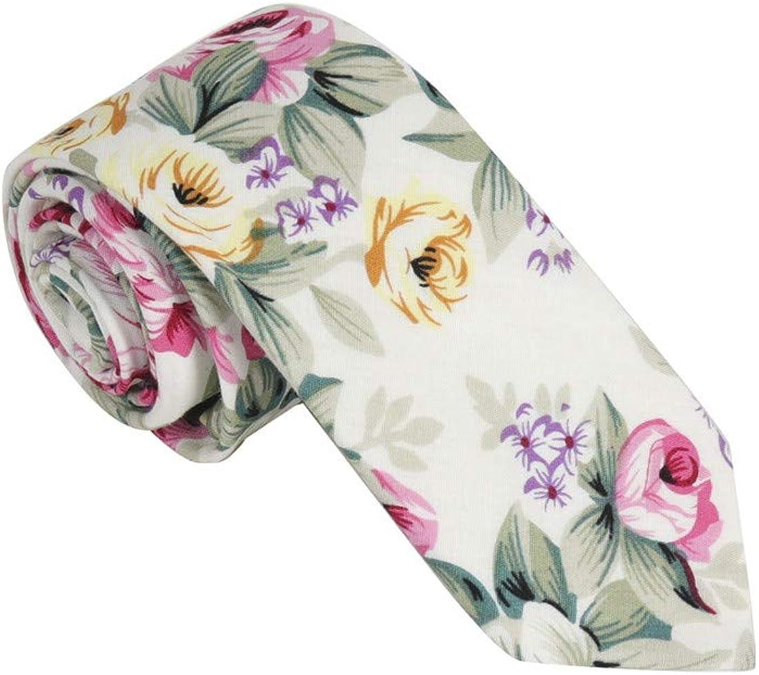 Dan Smith Men's Fashion Cotton Skinny Tie 2.5