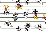 Jersey-Stoff mit Mickey-Mouse-Streifen, 0,5 m, 95 %