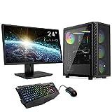 Sedatech Pack PC Pro Gaming AMD Ryzen 7 2700 8X 3.2Ghz, Radeon RX 6800 16Gb, 16 GB RAM DDR4, 480Gb SSD, 2Tb HDD, USB 3.1, WiFi. Ordenador de sobremesa, Monitor, Teclado/ratón, Win 10