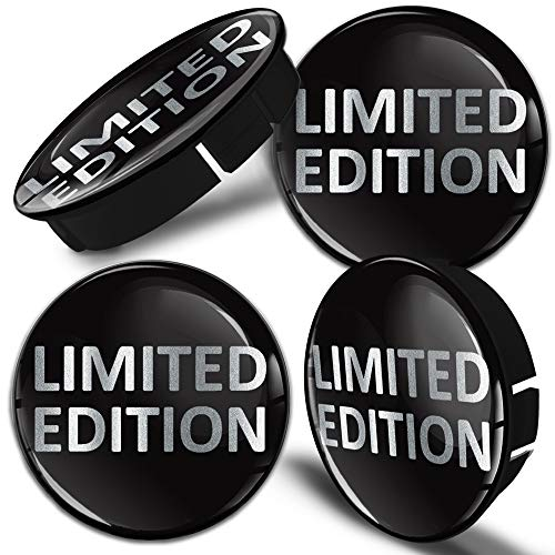 SkinoEu® 4 x 60mm Silikon Nabenkappen Kappen Limited Edition Silber Felgendeckel Radkappen Radnabendeckel Nabendeckel Auto Tuning C 66