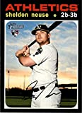 2020 Topps Heritage High Number #539 Sheldon Neuse RC Rookie Card Oakland Athletics Official MLB Baseball Trading Card in Raw (NM or Better) Condition. rookie card picture