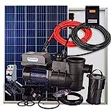 Kit Solar + Bomba Depuradora para Piscina 370W 24V 1/2cv + 2 Paneles Solares + Conectores