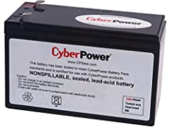 Genuine CyberPower replacement battery cartridge (1 battery included), tested, and certified for compatibility to restore UPS performance to the original specifications Sealed Lead Acid Batteries supplies high surge currents, provides robust power to...