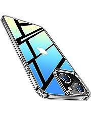 TORRAS 強化ガラス iPhone 13 用 ケース 全透明 薄型 軽量 ガラスケース 日本製ガラス9H 20倍黄変防止 TPUバンパー ストラップホール付き 2021年 6.1インチ アイフォン 13 用 カバー クリア