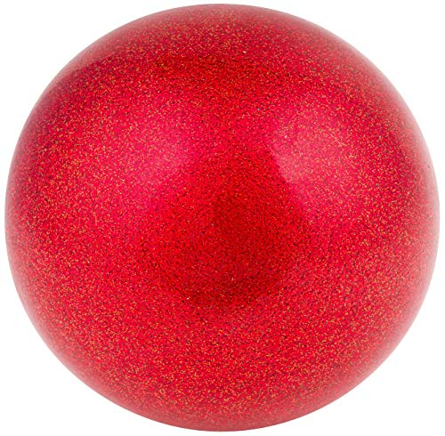 AMAYA SPORT Pelota Gimnasia Ritmica TECNOCAUCHO Glitter Rojo