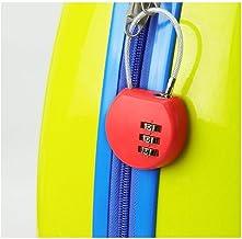 Combinatieslot, klein hangslot, slot voor gymkast, draadslot, U-vormig antidiefstal bagageslot-Oranje