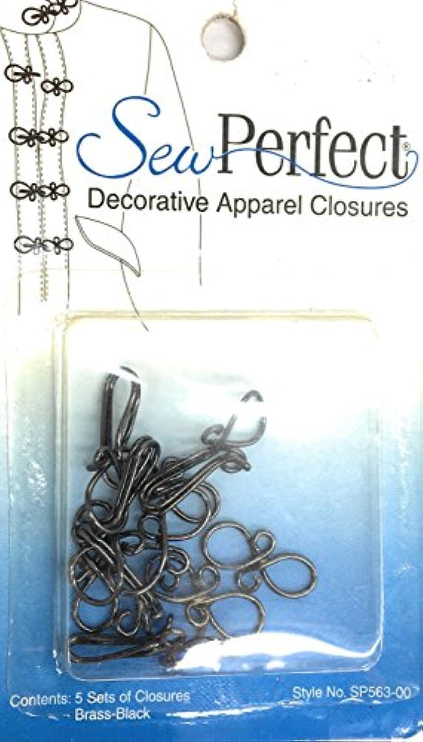 Decorative Hooks and Eyes, Sew Perfect Apparel Closures- Pewter GUN METAL