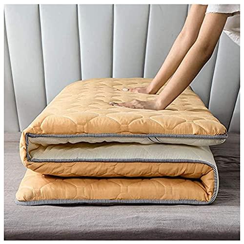 HFAFRZ Pieghevole Roll up Materasso, Addensare Materasso per Pavimenti Giapponesi futon Tatami Materasso Letto per Dormire Pavimento,E,1.0x2.0m