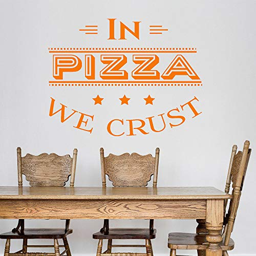 BFMBCH Pizza vinyl wandaufkleber zitate pizzeria Italienische restaurant küche aufkleber Nordic dekoration kunststoff wandaufkleber A3 42x54 cm