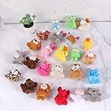 Toyvian Assortiment de Jouets en Peluche Mini Animaux Suspendus décoration de Pâques pour des Cadeaux pour Enfants (modèle Mixte, 6pcs)
