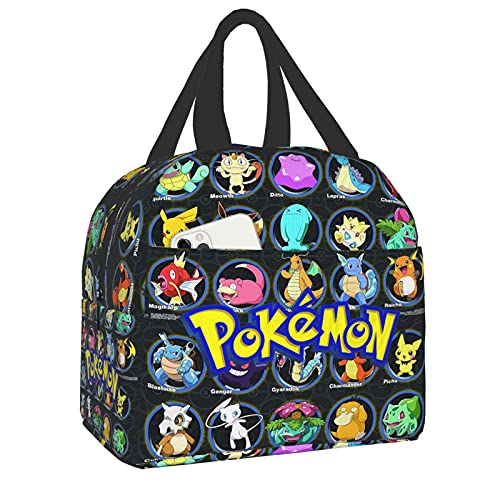 Pokemon Lunch Bag Custom Insulated Lunch Box Lunch Boxes For Schools And Outdoors,Suitable For Adults,Children
