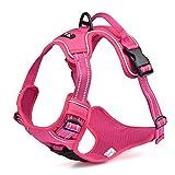Louvra Arnés del Perro Antitirones Básicos Adjustable de Nylon Reflectante, Tamaño M (55-65CM), Color Rosa