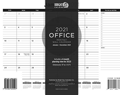 2021 Business Wall Calendar, Thick Paper Perfect for Organizing & Planning,...