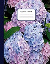 COMPOSITION NOTEBOOK: Blue & Pink Hydrangea Flowers Pattern Cover – School Notebooks College Ruled for Students, Kids & Teens - Ruled Pages Book for ... Diary (School supplies composition notebooK)