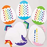 Baker Ross Kits para Tejer Huevos de Pascua Set para niños (paquete de 6)