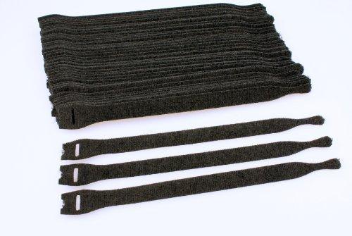 10x Klettband 230x20mm Kabelbinder Rutenband Kabel Klettverschluss schwarz