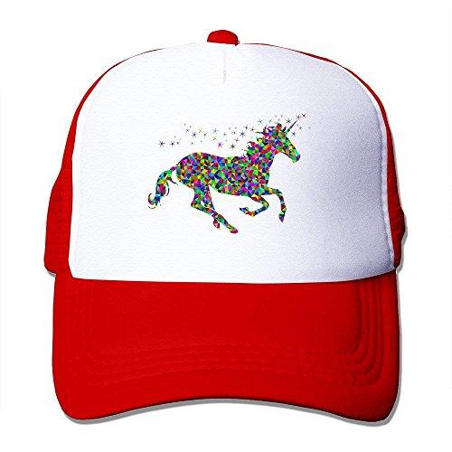 MACITA MZONE Unisex Snapback Cap Hats Rainbow Unicorn Baseball Cap Hat Black