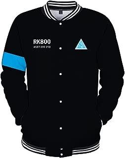 Pandolah Unisex Hoodie with Detroit:Become Human 3D Print Baseball Jacket Sweatshirt