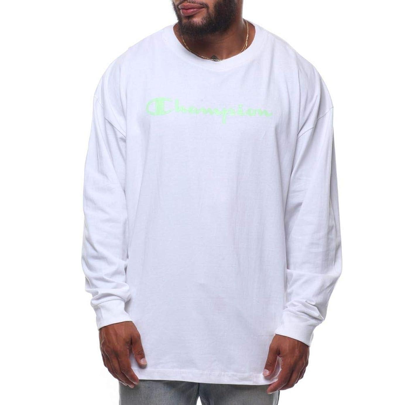 サミット一方、サスペンド(チャンピオン) Champion メンズ トップス 長袖Tシャツ l/s script logo tee (b&t) [並行輸入品]