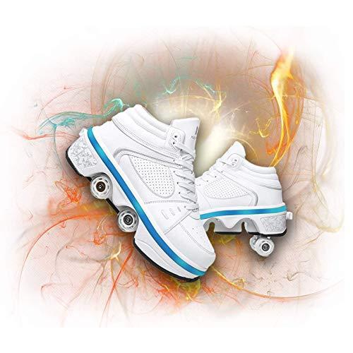 Patines de Ruedas, Zapatos Multiusos 2 en 1, Zapatillas de Deporte con Ruedas para niñas, niños, niños, Zapatos para Caminar automáticos, Patines Invisibles, Zapatos de Patinaje Unisex, ZAPA