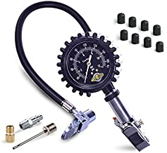 Motor Luxe Tire Inflator Pressure Gauge 170 PSI / 12 Bar - Professional Heavy Duty Air Compressor Tool For Your Car and Truck - Free Accessories